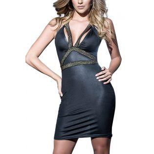 robe sexy moulante noire