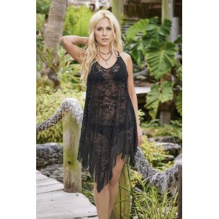 Beach dress black 7854