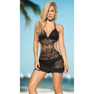 Beach dress black 1029
