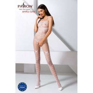 BS076W Bodystocking - Blanc
