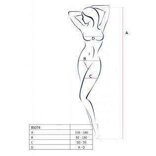 BS074B Bodystocking - Noir