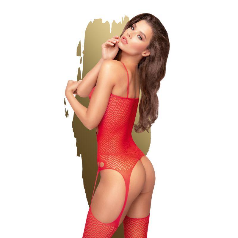 Hot nightfall Bodystocking - Rouge