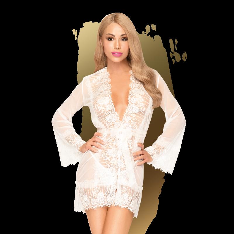Déshabillé Sexy Court Blanc