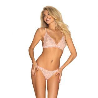 ensemble de lingerie en dentelle rose