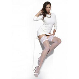 Bas nylon blanc