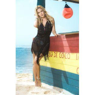 Beach dress black 7794